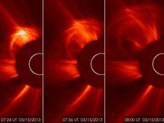 Fotos de tempestade solar que atingiu a Terra