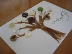 thank you card with buttons {craft}