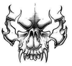 Evil Skull Tattoo, Skull Tattoo Design, Tattoo Design Drawings, Skull Tattoos, Body Art Tattoos, Skull Design, Evil Tattoos, Crow Tattoos, Tattoo Art