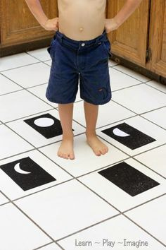 Learn the phases of the moon with some gross motor fun!