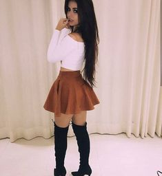 Shared by 𝒜𝓇𝒾𝒶𝓃𝒶. Find images and videos about fashion, style and outfit on We Heart It - the app to get lost in what you love. Teen Fashion Outfits, Mode Outfits, Girly Outfits, Cute Casual Outfits, Skirt Outfits, Cute Fashion, Sexy Outfits, Pretty Outfits, Fall Outfits