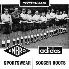 Double winners wear umbro and adidas Tottenham Hotspur Football, Spurs Fans, Adidas Sportswear, Soccer Boots, North London, World History, Artists, Club, History Of The World
