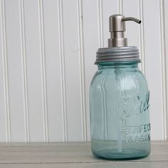 mason jar as a soap dispenser