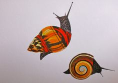 Snails by Charley Harper