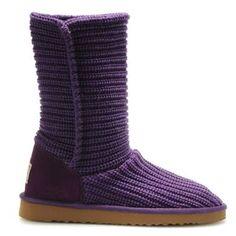 UGG Boots Classic Crochet 5833-Purple [UGG Boots Classic Crochet 5833-P] - $143.00 :