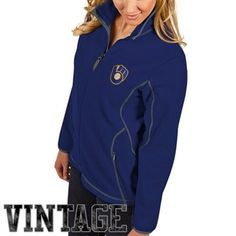 Antigua Milwaukee Brewers Ladies Ice Full Zip Jacket - Royal Blue, $65