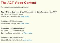 ACT video from student contest winners