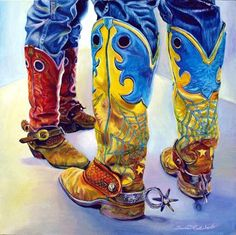 Western Oil Painting by Sharon Markwardt