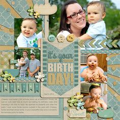 Half Pack 80: It's Your Birthday and FWP layered Cards by Cindy Schneider at Sweet Shoppe Designs.  Sweet Baby Boy by Shabby Miss Jenn Designs