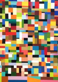 Border Squares by Shackman | PLATFORMstore. Oil on Canvas