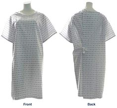 Snowflake Print Hospital Medical Gowns - Pack of Sizes: Sweep / Length / Sleeve Length / Sleeve Opening
