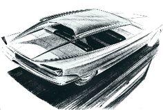 OG  1970 Citroën SM  Design sketch