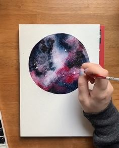 Watching the colors blend together in these watercolor galaxies is one of my favorite things ❤️ You can totally learn these techniques, too! Check out my beginners watercolor galaxy class to learn all of my favorite tips and tricks 👍🏻Watching Watercolor Techniques, Art Techniques, Watercolor Ideas, Watercolor Flowers, Watercolour Tips, Watercolor Scenery, Watercolor Beginner, Watercolor Paintings For Beginners, Watercolor Journal