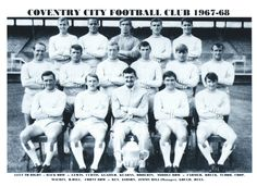 Season This is a very rare photograph, taken with Jimmy Hill and the Division Two championship trophy. Hill was to resign in order to take up a role with TV before the season started Back Row, Chelsea United, Coventry City Fc, Team Pictures, Family Memories, Division, The Row, Blues