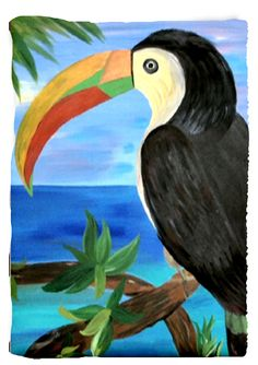 Toucan with a view art throw blanket from my original art. Art is on one side and white on the other side. Choose from 4 sizes. 100% soft, warm polyester fleece Ink won't run, fade or distress Machine