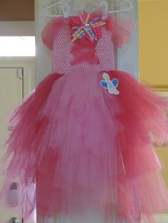 My Little Pony Pinkie Pie Inspired Tutu dress! Balloons, corset and bow! by CandysBowdaciousBows, size My Little Pony Dress, My Little Pony Costume, My Lil Pony, My Little Pony Party, Fluttershy, Mlp, Tulle Dress, Dress Up, Diy Halloween