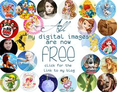 All my bottle cap images are now FREE on my blog