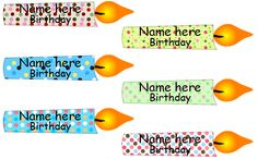Birthday display editable candles FREE
