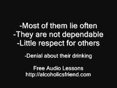Understanding why an alcoholic acts the way they do can be a very frustrating process. This video explains a few of the reasons why substance abusers act the way they do.