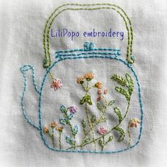 tea time hand embroidery pattern by LiliPopo on Etsy