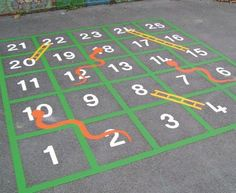 15 great games and activities related to sidewalk chalk! A girl and a glue good great games and activities related to sidewalk chalk! A girl and a glue gunEasy to make romantic sheet music Playground Painting, Playground Games, Outdoor Playground, Asphalt Games, Yard Games For Kids, Outside Activities For Kids, Life Size Games, Diy Projects For Kids, Kids Diy