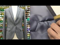 """(8) How to sew a jacket PART4 tutorial """"Collar, Sleeve, Mitered sleeve"""" - YouTube"""