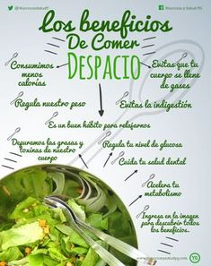 Los beneficios de comer despacio