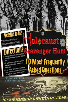 I have noted the ten most frequently asked questions by my own students into a web quest activity---an online scavenger hunt!  The lesson is a whole class activity designed to allow students to take responsibility for their own learning. The questions are the ten most frequently asked questions by students about the Holocaust.