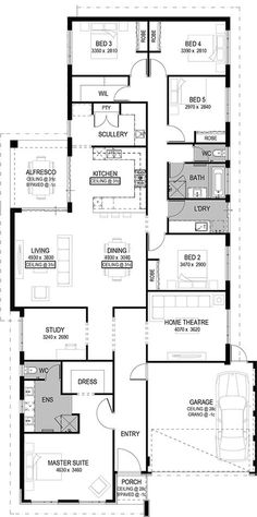 **bigger master suite The Montella Floorplan by National Homes The Plan, How To Plan, Dream House Plans, House Floor Plans, My Dream Home, Home Design Floor Plans, Plan Design, Sims House, Home Decor Bedroom