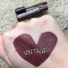 NYX Liquid Suede Cream Lipstick: Vintage #Lips #Swatch #LipSwatch #NYX #NYXLiquidSuedeVintage #Makeup #Beauty