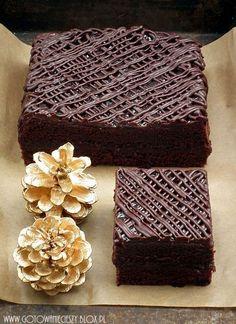 Lepki piernik z powidłami i czekoladą