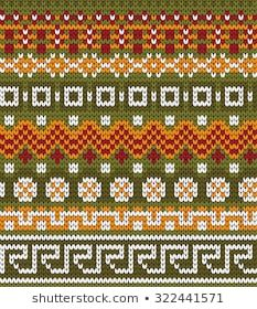 varicolored seamless knitted patterns with fair isle elements Fair Isle Knitting Patterns, Fair Isle Pattern, Knitting Charts, Bead Crochet Rope, Mittens Pattern, Lana, Stitch Patterns, Knitted Hats, Cross Stitch