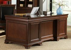 Mt. Vernon Executive Desk Top by Liberty. $1787.80. Power Management Hub (Cat5 & USB)Hidden Front Doors (HO100B)No-Tilt Lateral File (HO145)Extra Deep Lateral File (HO145)Precision Ball Bearing Drawer GlidesSlide Out Trays for Printers & ScannersRemovable Pencil Storage CompartmentFlip Down Keyboard TrayNon-Glare Adjustable LightingTouch LightingPDA Power ManagementEnglish Dovetail ConstructionFile Drawer Locks. Material Select Hardwoods. Create the perfect office setting w...
