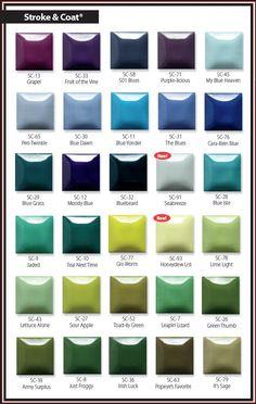 Coat Color Chart Mayco Ceramic Paint Brands Art Clayworld Stroke 54 Best Low Fire Glazes Images Enamel Frosting Glaze