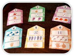 Les maisons des chiffres (jusqu'à 6) French Course, Montessori Math, Petite Section, Grande Section, Math For Kids, Too Cool For School, Kindergarten Math, Book Activities, Teaching