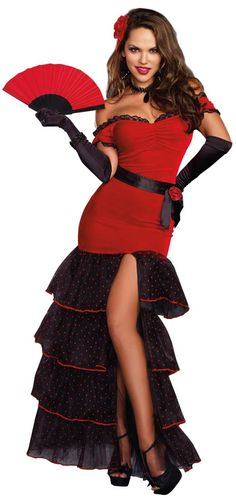 Flamenco Adult Costume - Spanish Costumes