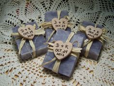 Items similar to 50 Wedding favors soaps - mini soaps - LAVENDER - Shea butter, organic, handmade soap - rustic wedding favors, personalized, can customize. on Etsy Soap Wedding Favors, Soap Favors, Rustic Wedding Favors, Bridal Shower Favors, Boho Wedding, Boho Bride, Garden Wedding, Dream Wedding, Homemade Wedding Gifts