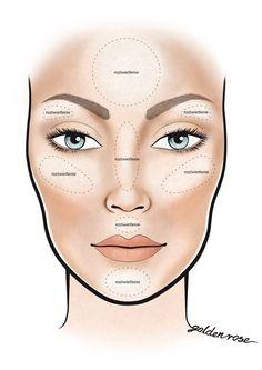 contour makeup – Hair and beauty tips, tricks and tutorials Contouring Oval Face, Oval Face Makeup, Blue Eye Makeup, Contour Makeup, Contouring And Highlighting, Skin Makeup, Maquillage Goth, Makeup 101, Makeup Products