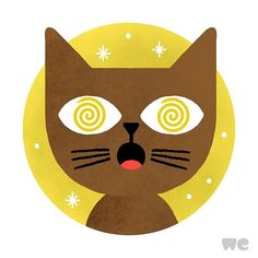 mauro gatti | illustration for the relaunch of wetransfer #illustration #wetransfer #cat #italian #brown #yellow