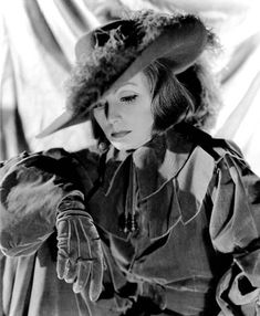 Greta Garbo as Queen Christina, 1933. It was a talkie, but I love this pic.