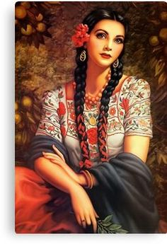 Vintage Pin Up: Jesus Helguera Mexican Artwork, Mexican Folk Art, Mexican Paintings, Mexican Girls, Mexican Stuff, Art Espagnole, Art Chicano, Chicano Tattoos, Santa Sara