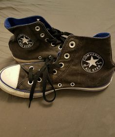 Dark Grey High-Top Converse sise 38 in Clothes, Shoes & Accessories, Women's Shoes, Trainers | eBay!