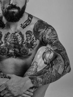 Inked and bearded