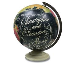Love this... not sure what to do with this idea, but I've got an old globe that could be turned into art!