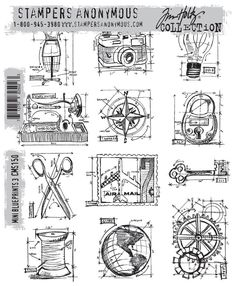 cha-winter 2013 sneak peek… stampers anonymous (part 1) | Tim Holtz  Love at 1st sight!, again.