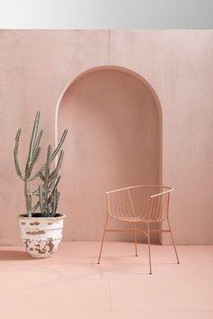 Powder coated steel garden chair JEANETTE - SP01
