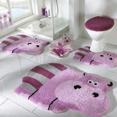 Hippos Too darn adorable. My little girls will have this!