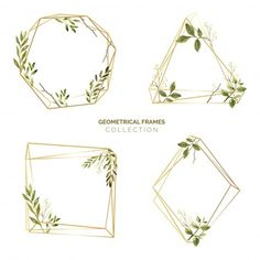 More than a million free vectors, PSD, photos and free icons. Exclusive freebies and all graphic resources that you need for your projects Watercolor Leaves, Watercolor Wedding, Vector Freepik, Motif Floral, Vintage Frames, Color Theory, Wedding Cards, Branding Design, Clip Art
