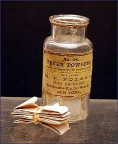 fever powder from ca. 1850 medicine chest