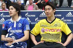 Shinji Kagawa and Atsuto Uchida, my 2 favorite Japanese football players!!